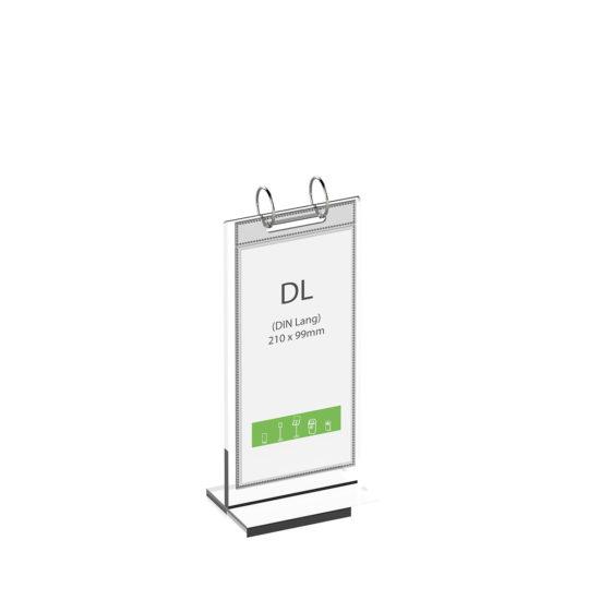 Tabletop Sign Holder Flip DL