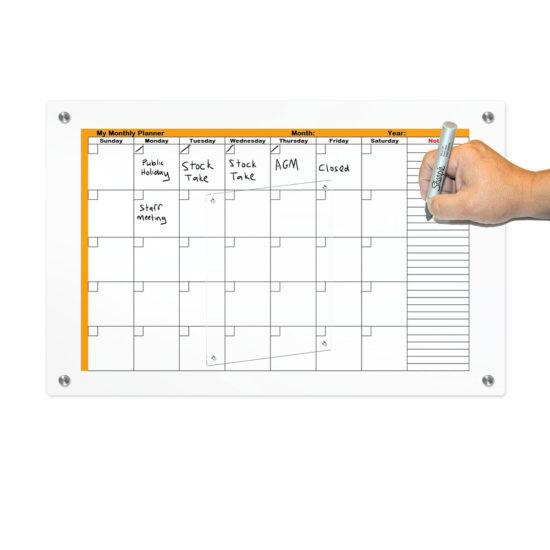 Glass Floating Frame Calendar