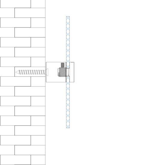Wall Sign Fixture IMS Wall 4-Way-Standoff Usage