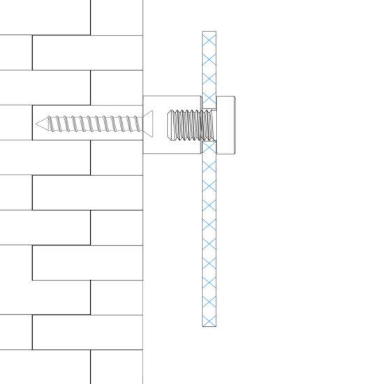 Wall Sign Fixture IMS Wall Standoff Usage